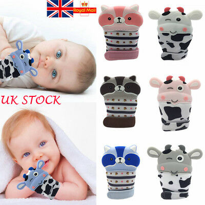 Infant Baby Cute Molar Gloves Anti-bite Teething Teether Soft Silicone Mitten