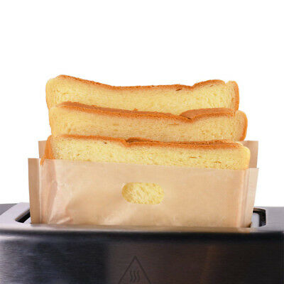 2/6/10 PcsSandwich Toaster Toast Bags Non-Stick Reusable Safety Heat Resistant G