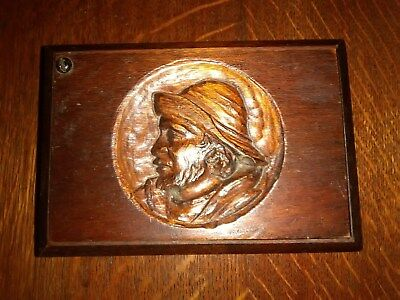 Antique Swivel Hinge Carved Box from BrittanyFrance.