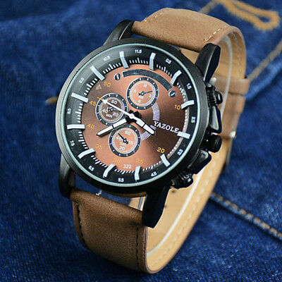 Sports leather leisure men 's business waterproof watches