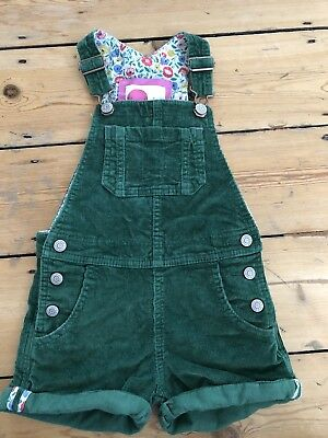 Baby Mini Boden Girls Green Cord Dungaree Shorts Jumpsuit Play suit 2-3 Years