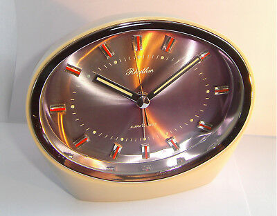 Vintage - Rhythm - Mechanical - Space Age - Rare - Alarm Clock - 1960's