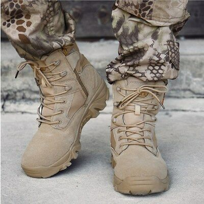 Men Military Tactical Boots Desert Combat Army Hiking Travel Botas Shoes SZ 6-11