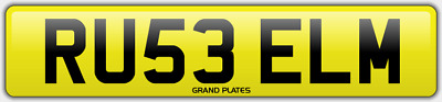 Russell Russ number plate RU53 ELM CHERISHED CAR REGISTRATION RUSSELLS FEES PAID