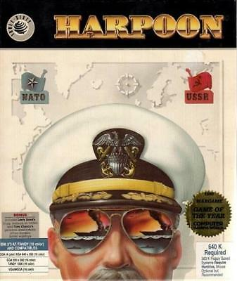 Three-Sixty Pacific Computer Wargame Harpoon Box NM