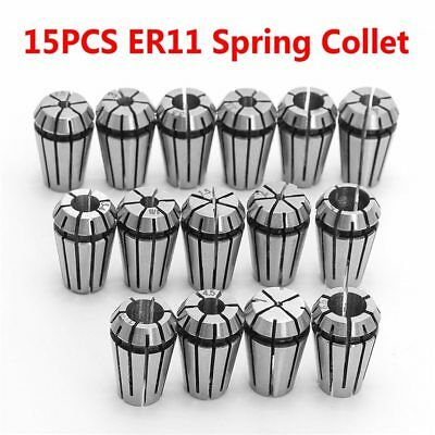15PCS ER11 Precision Spring Collet For CNC Engraving Machine Milling Lathe Tool