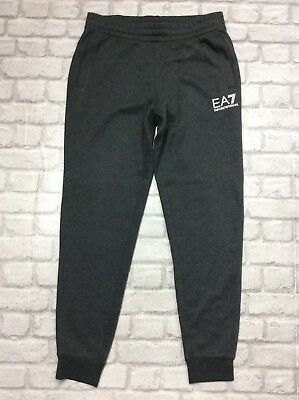 Emporio Armani Ea7 Mens Uk L Dark Grey Core Id Track Jogging Bottoms Rrp £90