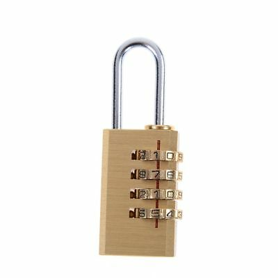 Mini 4 Digit Number Password Code Lock Combination Padlock Resettable For Travel