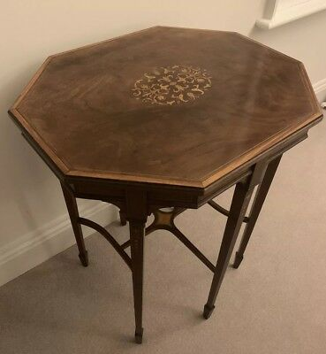Octagonal Marquetry Occasional Table