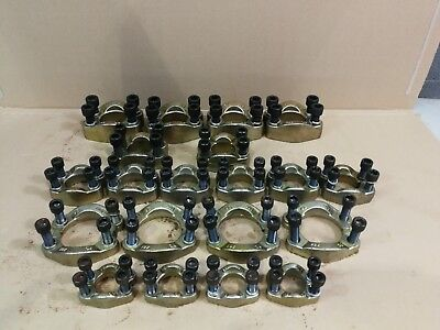 Job lot of 20 Hydraulic SAE Split Flange Clamps 61 & 62 (3000 & 6000) Series ,*