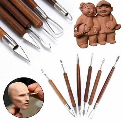 Wood Handle Clay Sculpting Pottery Tool Polymer Modeling Wax Carving Shapers