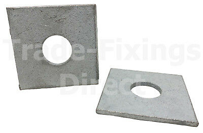 M6, M8, M10, M12, M16 & M20 Thick Square Plate Washers Hot Dipped Galvanised
