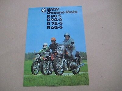 1973 BMW MOTOS Bikes R90 R75 R60 Brochure Prospekt Dépliant Catalogue French