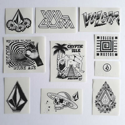 10 x VOLCOM Stickers / Decals. Skate Stickers BMX snowboard Surf