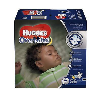 HUGGIES OverNites Diapers, Size 3,4,5  56 ct., BIG PACK Overnight Diapers