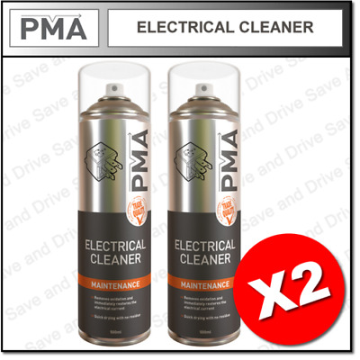 2 x PMA Electrical Contact Cleaner Quick Drying Professional Aerosol 500ml ELCLE