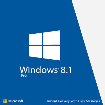 Windows 8.1 Professional Activation Key 32 or 64 Bit Instant Delivery Shipping