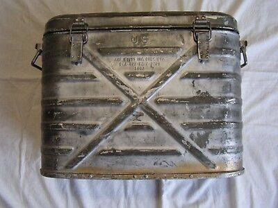 Vtg-1982 Us Military Amf Wyott Inc-Metal Food Container Cooler/chest-Chey, Wy