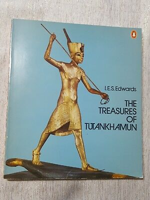THE TREASURES OF TUTANKHAMUN Paperback Book I.E.S. Edwards Penguin 1976 Egypt