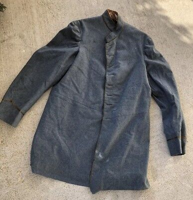 1800s Militia / Band Coat Grey Blue With Gold Trim Lewis Sons Label