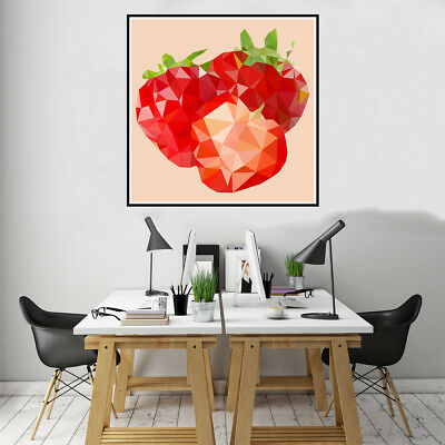 Geometric Tomato Canvas Art Painting Poster Home Kitchen Wall Decor Unframed