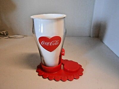 Coca Cola  COKE GLASS Used by Teleflora as Flower Vase WITH COKE (HEART) LOGO