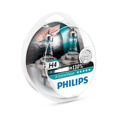 Philips H4 Xtreme Extreme Vision +130% Brighter Car Headlamp Bulbs *PAIR - NEW*