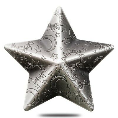 2018 1 oz Palau Twinkling Star Charms High Relief Antiqued Silver Coin (w/Box)