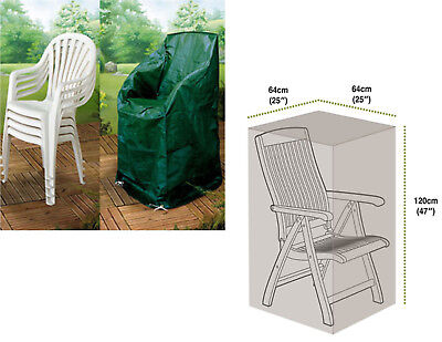 Stacking Chair Cover Garden Chair Cover Durable Outdoor Cover Green 64x64x120cm