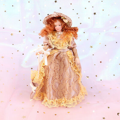1:12 Dollhouse miniature porcelain doll dollhouse victorian elegant lady madamFO