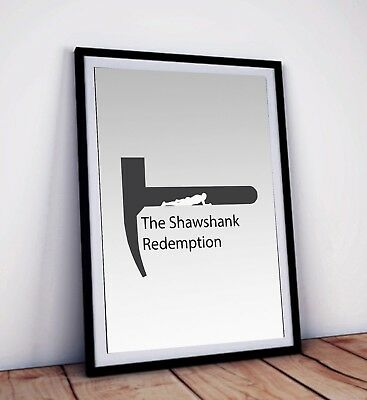 The Shawshank Redemption Movie Poster, Minimalist art print | 42 x 29.7 cm (A3)