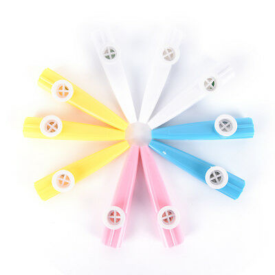 10Pcs Plastic Kazoo Harmonica Mouth Flute Kids Party Musical Instrument UUMW