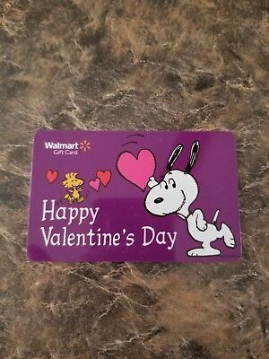 Walmart Snoopy Valentines day ❤ gift card 🚫NO🚫VALUE🚫