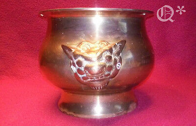 Solid Brass Pot /Jardiniere with ghoulies