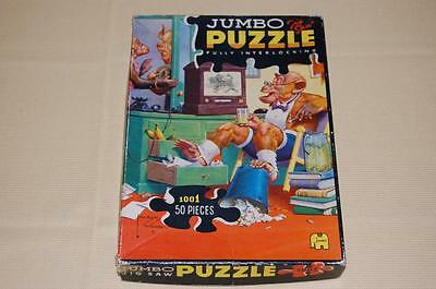 Vintage 70s-80s Jumbo Jigsaw Puzzle Monkey Banana Reports Artist Lawson Wood