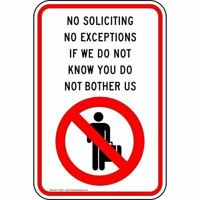 ComplianceSigns Reflective Vinyl No Trespassing Label, 18 x 12 in.