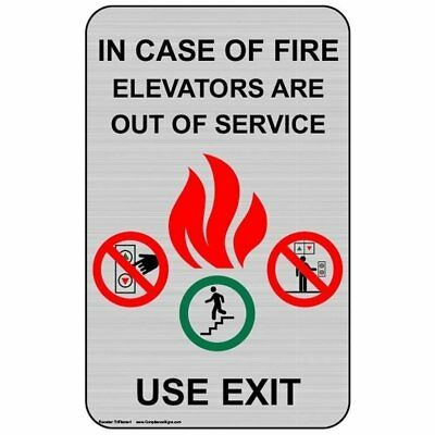 ComplianceSigns Aluminum Exit - Emergency / Fire sign 8 x 5 in. Surface Mount -