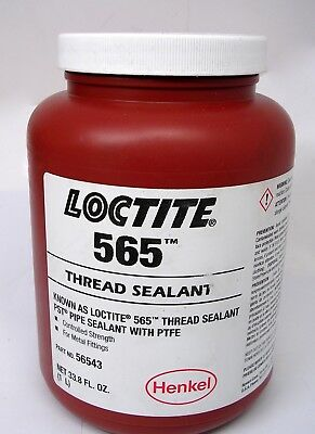 NEW Loctite 565 Thread / Pipe Sealant 1 Liter 56543 with PTFE for Metal, White