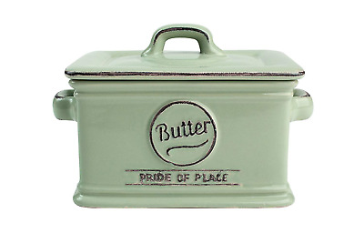 T&G Pride of Place Butter Dish In Old Green
