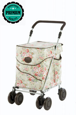 Sholley Deluxe Jackie Clover Special Edition Shopping Trolley in Pale...