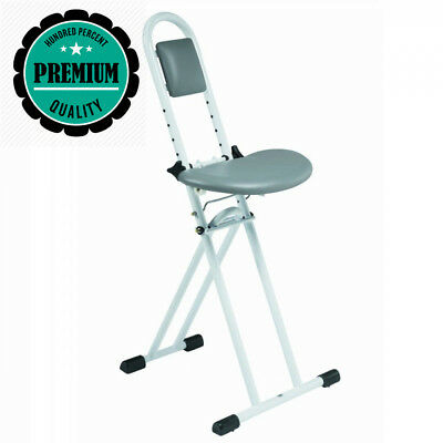 Cool Folding Perching Home Kitchen Ironing Stool With Padded Evergreenethics Interior Chair Design Evergreenethicsorg