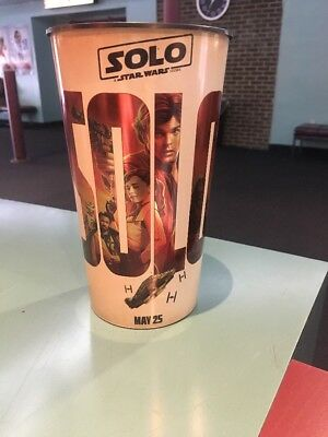 """Solo: A Star Wars Story """"Solo"""" Style 1 Of 2 44oz Plastic Theater Cup Brand New"""