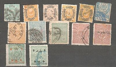 01-30-3274 TURKEY - Ottoman Empire - lot of old stamps