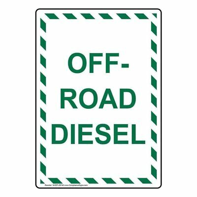 ComplianceSigns Vertical Aluminum Off-Road Diesel Sign, 14 X 10 in. with...