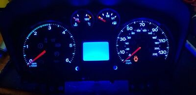 Blue ford transit mk7 led dash upgrade led dash clock kit lightenUPgrade