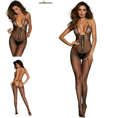 Hot Reizwäsche Fishnet Body Stocking Catsuit Netz Body Unterwäsche |H| 790048-2