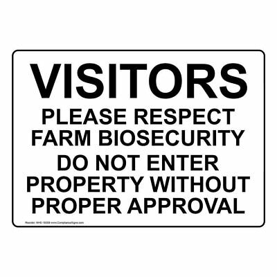 ComplianceSigns Aluminum Farm Safety Sign, 14 x 10 in. with English Text, White