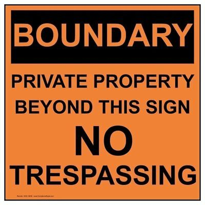 ComplianceSigns Aluminum Private Property Sign, 12 x 12 with English, Orange