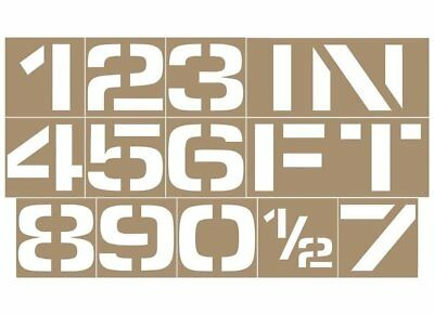 Number Stencil Kit With 4 in. Letters for Pool Depth, Parking, Floor