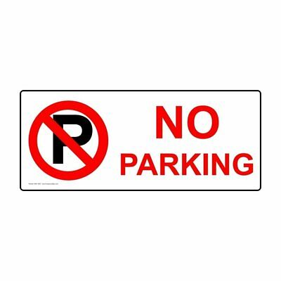 ComplianceSigns Magnetic Parking Not Allowed Sign, 14 x 5 with English, White